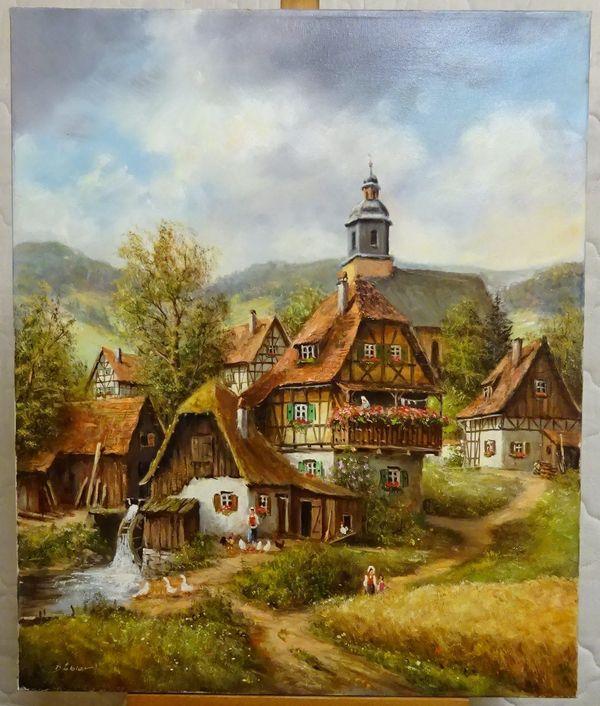 Fränkische Landschaft Von Erich Döbler ölgemälde In Altdorf