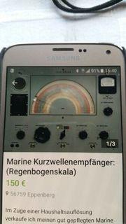Marine Kurzwellenempfänger Regenbogenskala