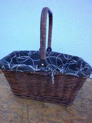 Einkaufskorb Picknickkorb Weide Henkel klappbar