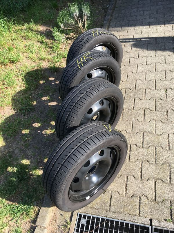 PIRELLI Autoreifen mit Stahlfelgen - Heidelberg Kirchheim - Ich verkaufe 4x Pirelli Cinturato P1 Verde 195/55 R16 auf 5-Loch-Stahlfelgen (z.B. für Peugeot 207), Profil 6-7 mm, DOT 0413 Gekauft 05/2013 (hinten) und 04/2014 (vorne); Gefahren bis 11/2014: ca. 11.000 km (vorne) bzw. ca. 27.000  - Heidelberg Kirchheim