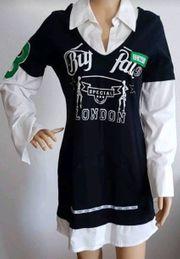 Buffalo Langshirt Bluse Minikleid 38