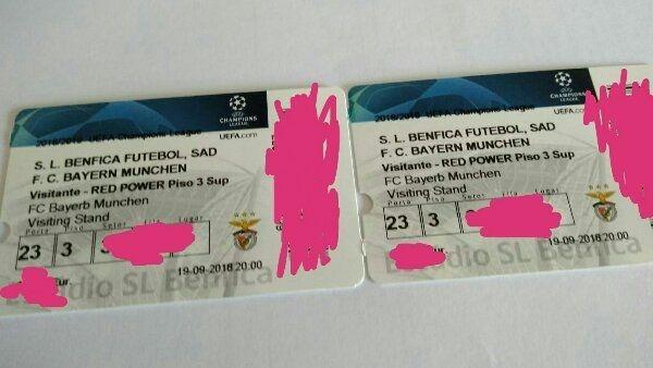 2 Tickets Benfica Lissabon gg