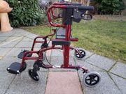 Rollator - Aluminium - rot - Rollstuhl - drive